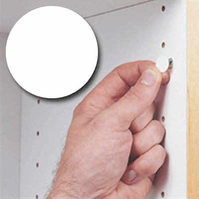 White screw cover sheet