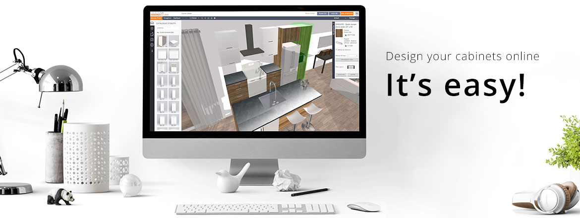 Design your cabinets online, it's easy!